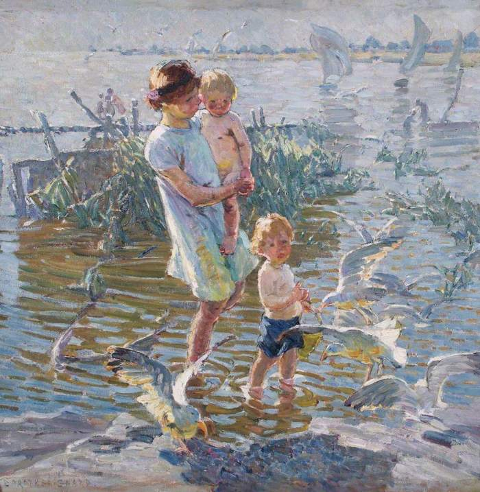Sharp, Dorothea, 1874-1955; Where Children Play and Seagulls Fly
