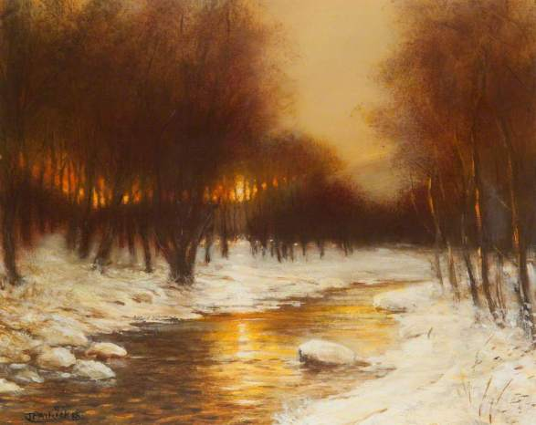 Patrick, James, 1938-2005; Sunset on Snow