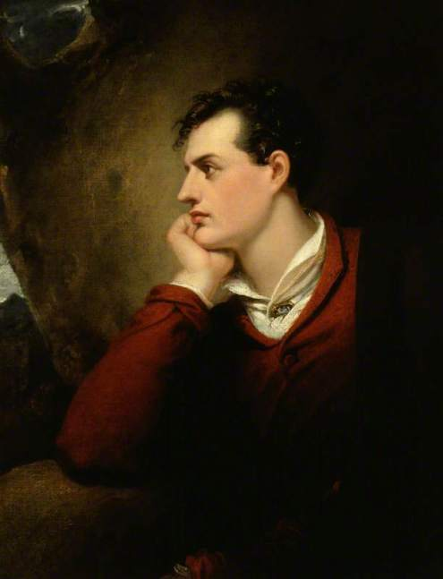 George Gordon Byron, 6th Baron Byron, by Richard Westall, Copyright National Portrait Gallery, London