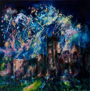 McWilliams, Joseph, b.1938; Fireworks at Queen's Festival